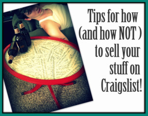 Tips for Selling Stuff on Craigslist Reality Daydream