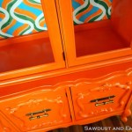 China Cabinet Rescue ~ of the Retro Orange Variety