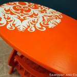 DIY ~ Little Orange End Table