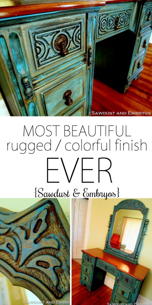 Distressed Furniture Painting Techniques - glazing-and-painting-technique-to-acheive-this-gorgeous-effect-on-furniture-reality-daydream