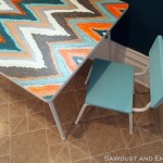Children's Table–Painting Chevron AND Ikat!