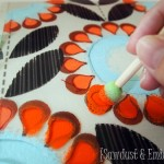 Secretary {Part 2} ~ LAYERED Stenciling (you heard me!)