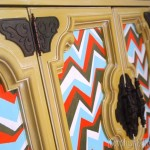 Tutorial: DIY Painted Buffet w/ a Chevron Pattern