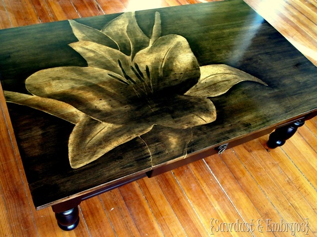 Colorful Wood Stain Artwork On Furniture Tutorial Grant Shading Technique