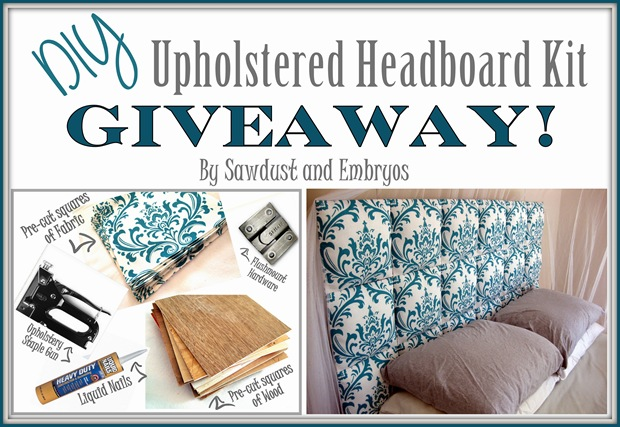 giveaway upholstered diy headboard kit  reality daydream, Headboard designs