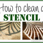 How to CLEAN your Stencil (and an update on the Living Room stenciling!)