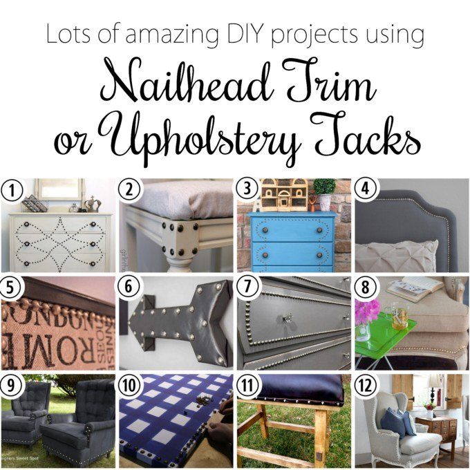 Applying nailhead trim and upholstery tacks {Reality Daydream}