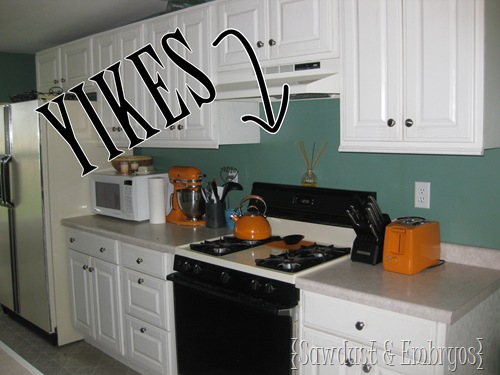 Great PAINT Your Drab Backsplash To Look Like TILE!!! {Sawdust And Embryos} Awesome Ideas