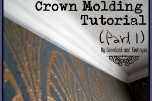 Living Room Crown Molding Reveal and Tutorial (Part 1)
