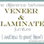 The Difference between Laminate and Wood Veneer Furniture {and how to PAINT them!}