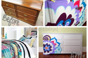 Paint a dresser to coordinate with comforter! {Sawdust and Embryos}[6]
