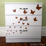 Dawn's Smaller Dresser {using vinyl as a stencil}