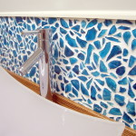 Mason Jar Mosaic Backsplash (for UNDER $40!!)