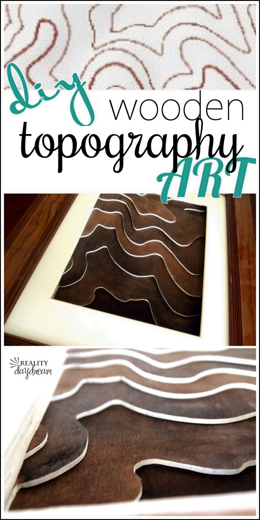 Make a wooden topography map of your property! {Reality Daydream}