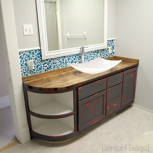 Backsplashes With Butcher Block Countertops : How to build a butcher block counter - REALITY DAYDREAM