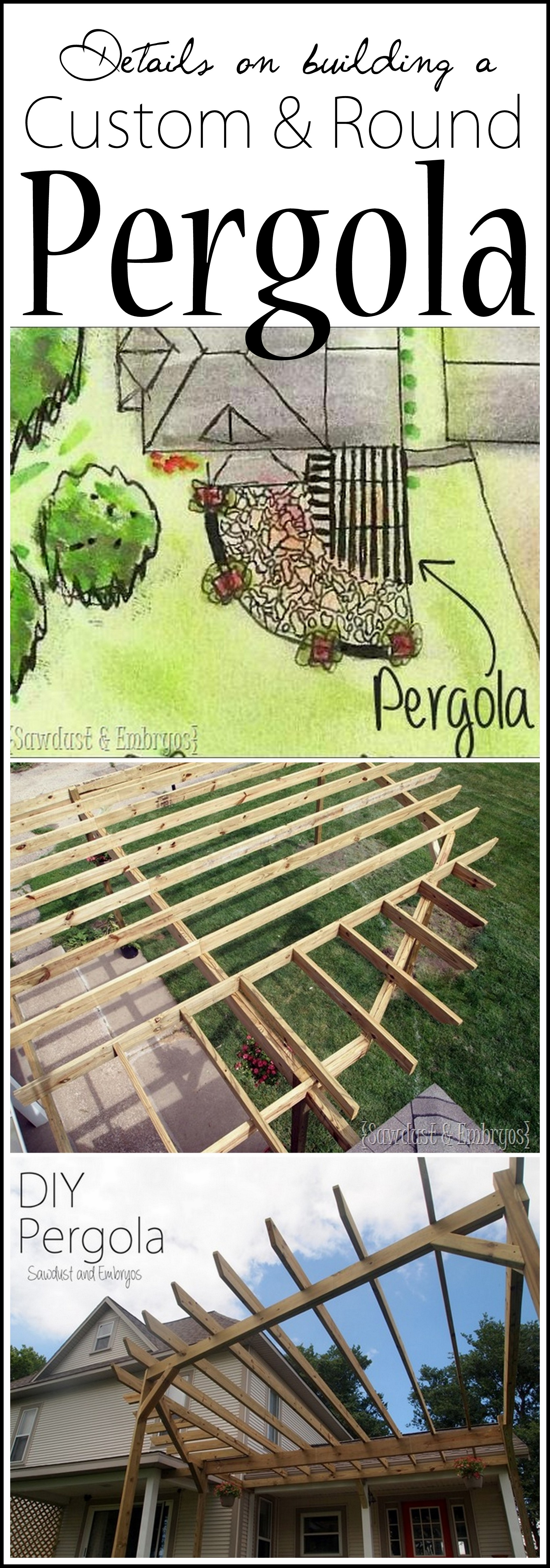 Important info on building your own custom pergola... including ROUND pergolas!! {Sawdust and Embryos}