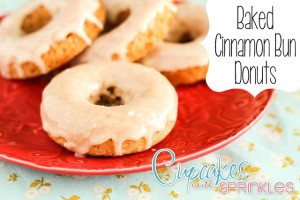 Baked Cinnamon Bun Donuts {Cupcakes with Sprinkles}