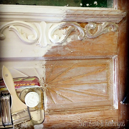 Tutorial For Stripping Paint From Your Detailed Furniture