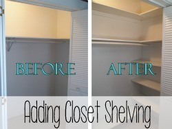 Adding Custom Closet Shelving to Maximize Space!