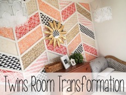 Adorable room transformation for twin girls.