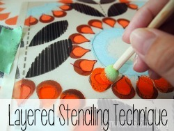 Awesome Layered Stencil Technique