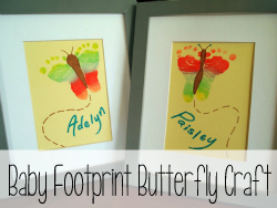 Baby Footprint Butterfly Craft