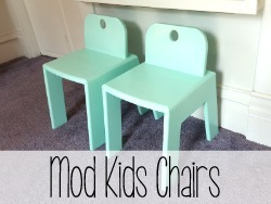 Build these super simple Modern Kids Chairs... Land of Nod Knock Off! {Reality Daydream}