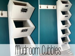 Build your family some cubbies for hats and mittens!