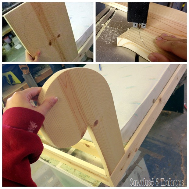 Building a toddler bed to resemble a fainting couch! {Sawdust and Embryos}