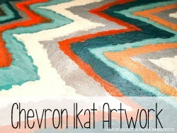 Chevron Ikat Artwork