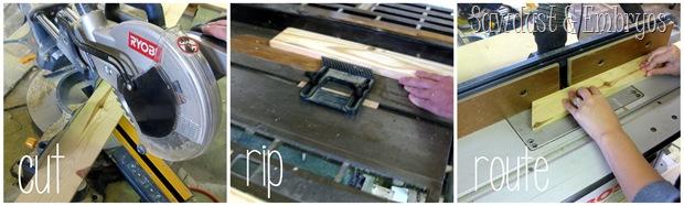 Cut Rip Route... Mini Ladder Shelf {Sawdust and Embryos}