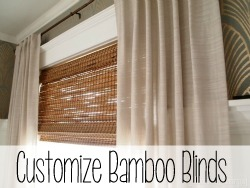 Cut bamboo shades to size to perfectly fit your custom windows! {Reality Daydream}