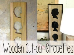 Cut out your kids facial silhouettes out of wood using a scroll saw!