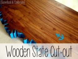 Cut your state (or country!) out of wood with a scroll saw {Reality Daydream}