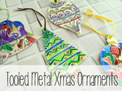 Tooled Metal Xmas Ornaments