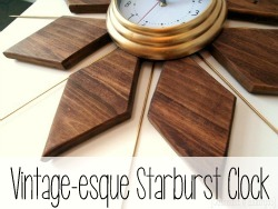 DIY Mid Century Vintage-esque Starburst Clock {Reality Daydream}