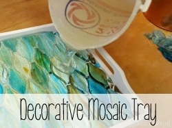 Decorative tray using leftover tile (or anything!) to make a mosaic {Reality Daydream}