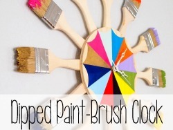 Dipped Paint Brush Starburst Clock