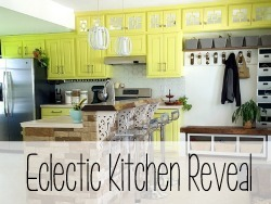 Eclectic and BOLD kitchen reveal! {Reality Daydream}