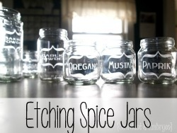 Etching Glass Baby Food Jars to make Spice Jars! {Reality Daydream}
