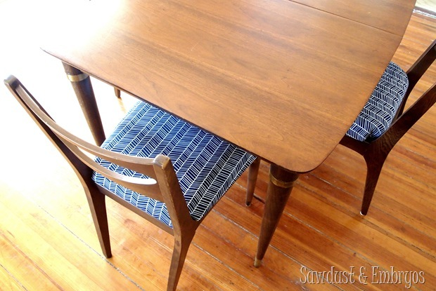 Restoring A Mid Century Modern Dining Set Sawdust And