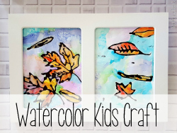Watercolor Kids Craft