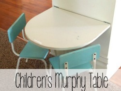 Fold-down 'Murphy Table' for the littles!