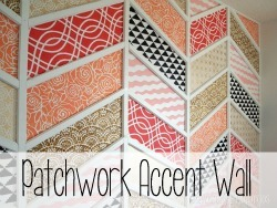 Herringbone Patchwork Accent Wall