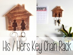 His and Hers Key Chain Rack - using a scroll saw! {Reality Daydream}
