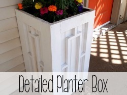 How to build a wooden planter box with geometric details!