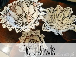 How to make Doily Bowls {Reality Daydream}
