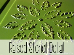 How to make a raised Stencil with Joint Compound