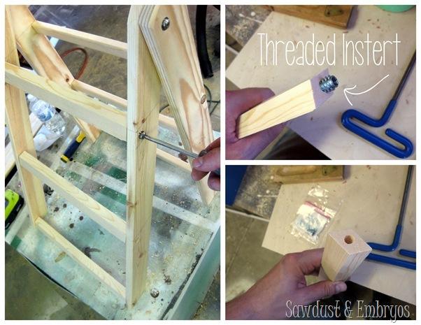Ladder Shelf assembly