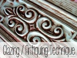 Learn how to glaze or antique furniture with this technique!